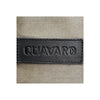 Canvas and Leather Tote bag | Close up logo View | Olive canvas and black leather | Voyager | Quavaro