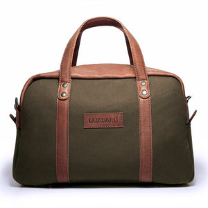 Albatross- Green canvas and Caramel leather - Quavaro