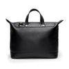 Leather Weekender | Back View | Goose | Black leatherr | Quavaro
