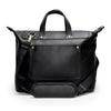 Leather Weekender | Shoulder strap View | Goose | Black leatherr | Quavaro