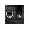 Leather Weekender | Close up hardware View | Goose | Black leatherr | Quavaro