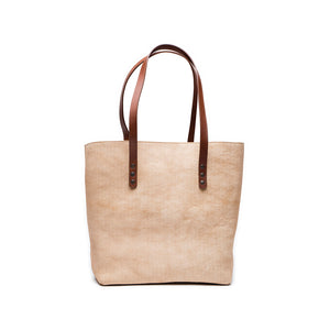 Leather tote bag | Front View | Aspen | Quavaro