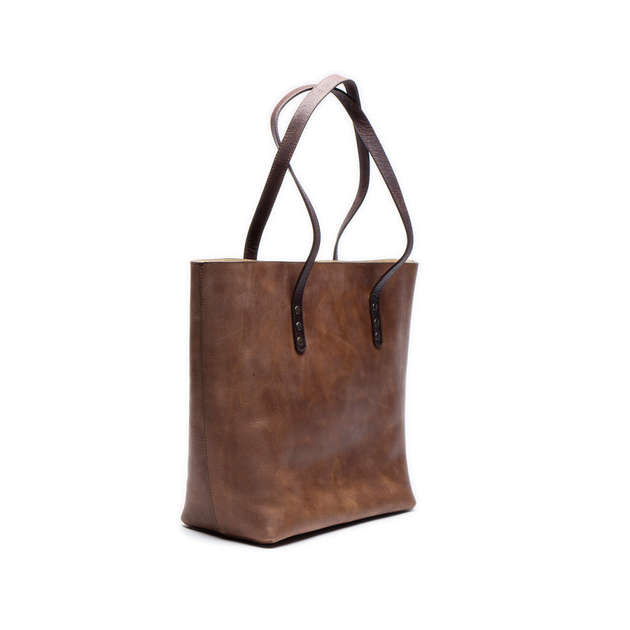 Leather tote bag | Front View | Nairobi | Quavaro