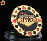 High Quality WR Gold Plated Las Vegas Poker Coin