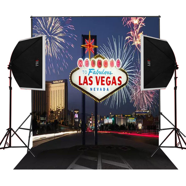 welcome to fabulous Las Vegas custom background prop