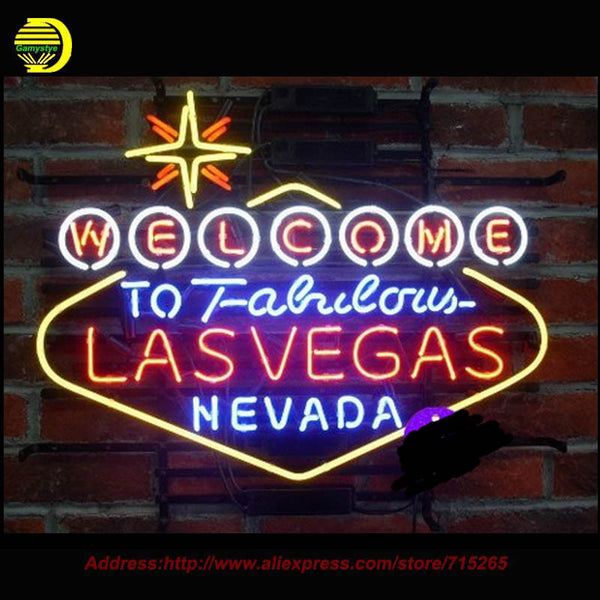 Welcome to Las Vegas Neon Sign Shipping Included through 10-15-2017