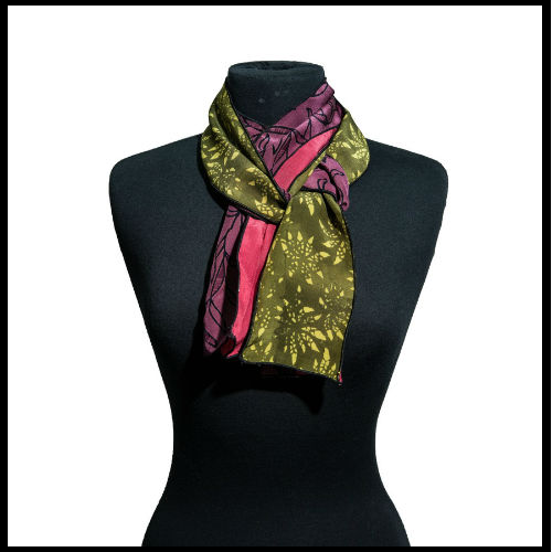 Autumn Shades Silk Scarf