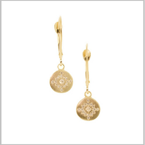 Gold Starburst Shimmer Earrings