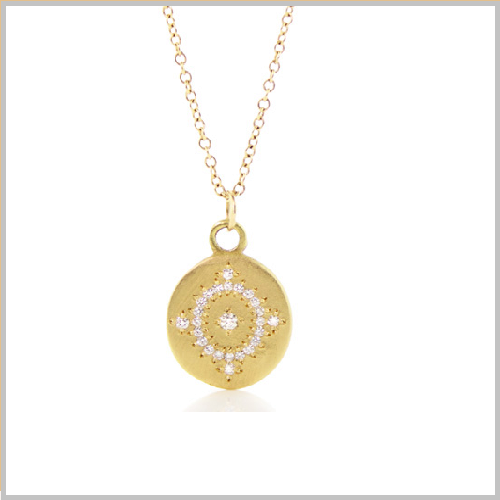 Diamond Studded Gold Necklace