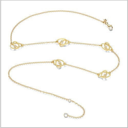 Gold Infinity Station Necklace