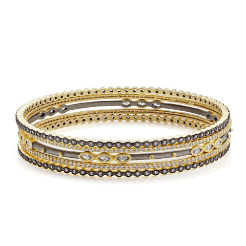 Marquise Beaded 5 Bangle Set