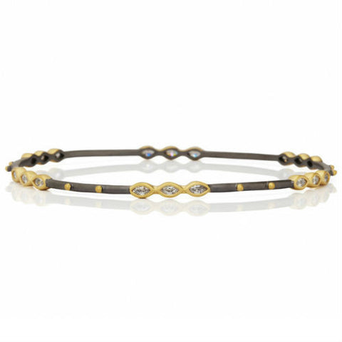 Marquise Beaded Station Bangle