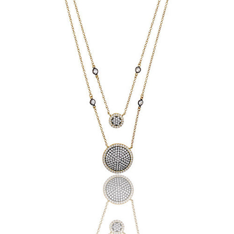 Double Layer Pave Necklace