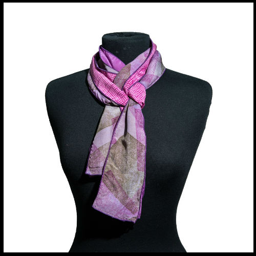 Purple Ash Silk Scarf