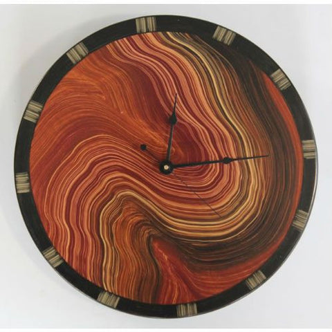 Finland Clock Painted Wood Face