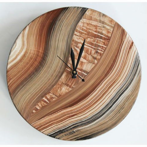 Round Clock Painted Wood Face