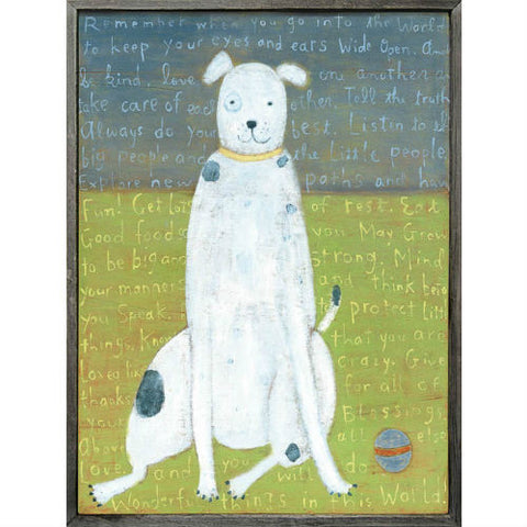 White Boy Dog Art Print