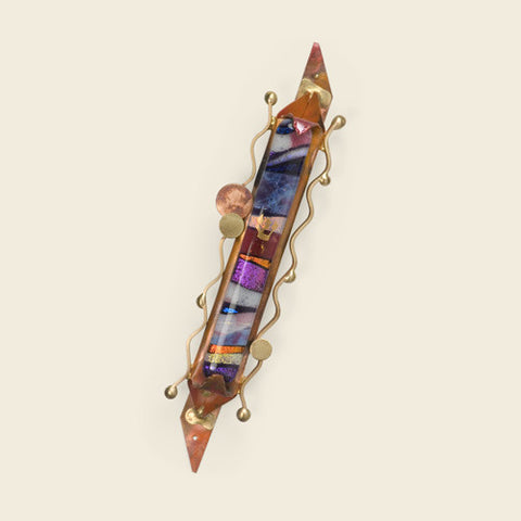 Glass and Copper Mezuzah