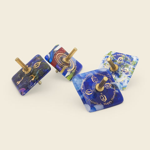 Hanukkah Dreidel Tops – set of four
