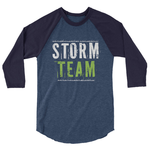 STORM TEAM Mens 3/4 sleeve raglan shirt