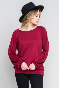 Long Sleeve Solid Sweatshirt