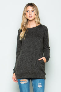 Brushed Knit Tunic Top