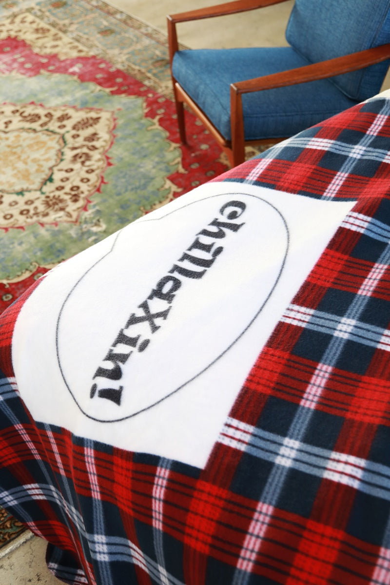 Printed Plaid Soft Fleece Blanket