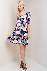 Sunshine Flower with Back Key Hole Dress