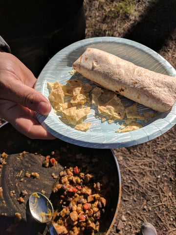 Enchilada Filling makes a easy camping dinner