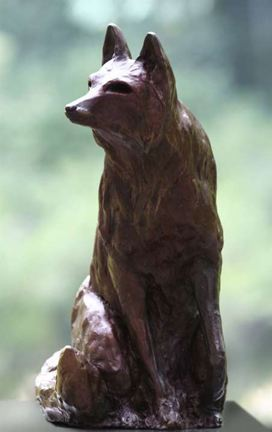 sculpture bronze The Fox by JoAnne Helfert Sullam