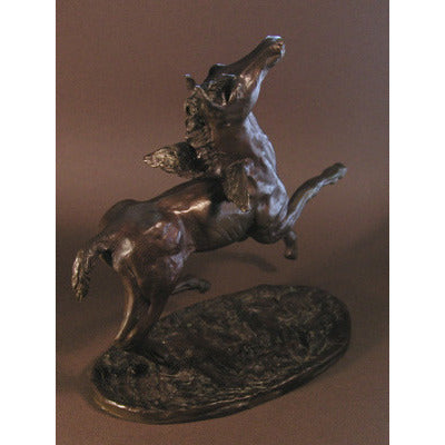Little Angel  foal with wings 11 x 10 x 5  Bronze 2AP Ed25  JoAnne Helfert Sullam