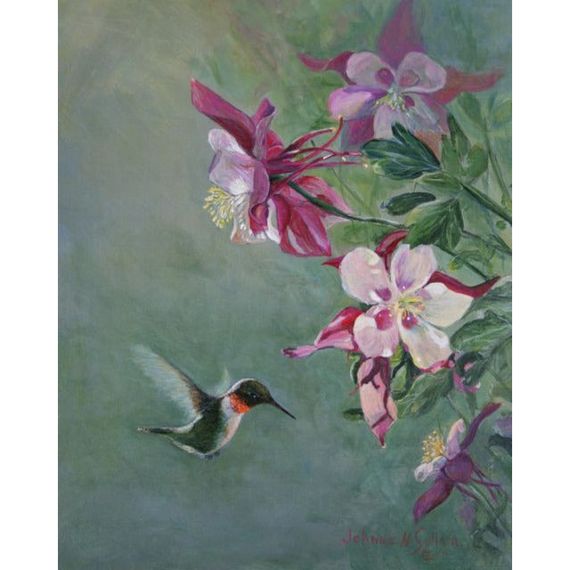 Ruby-Throated Hummingbird Giclee on paper - Daydreams Studio