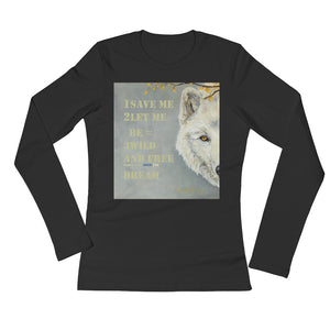 Save me wolf Ladies' Long Sleeve T-Shirt - Daydreams Studio