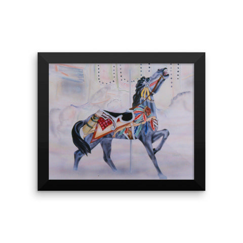 Indian carousel horse Framed poster print