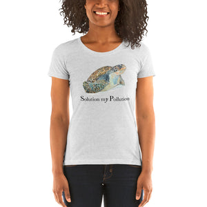 Turtle message Ladies' short sleeve t-shirt - Daydreams Studio