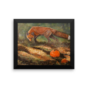 Out colored Red Fox Framed photo paper poster