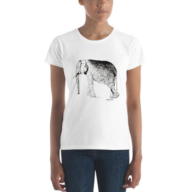 Elephant walking Women's short sleeve t-shirt - Daydreams Studio