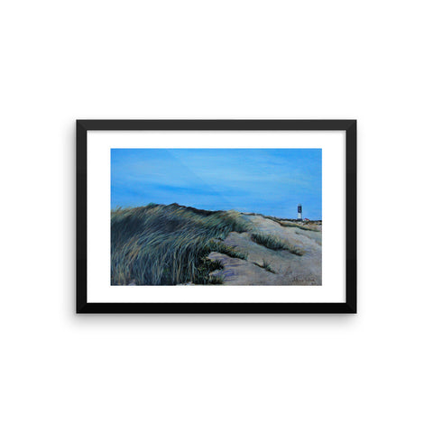 The lighthouse Framed photo paper poster
