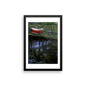 Red Boat Framed photo paper poster - Daydreams Studio