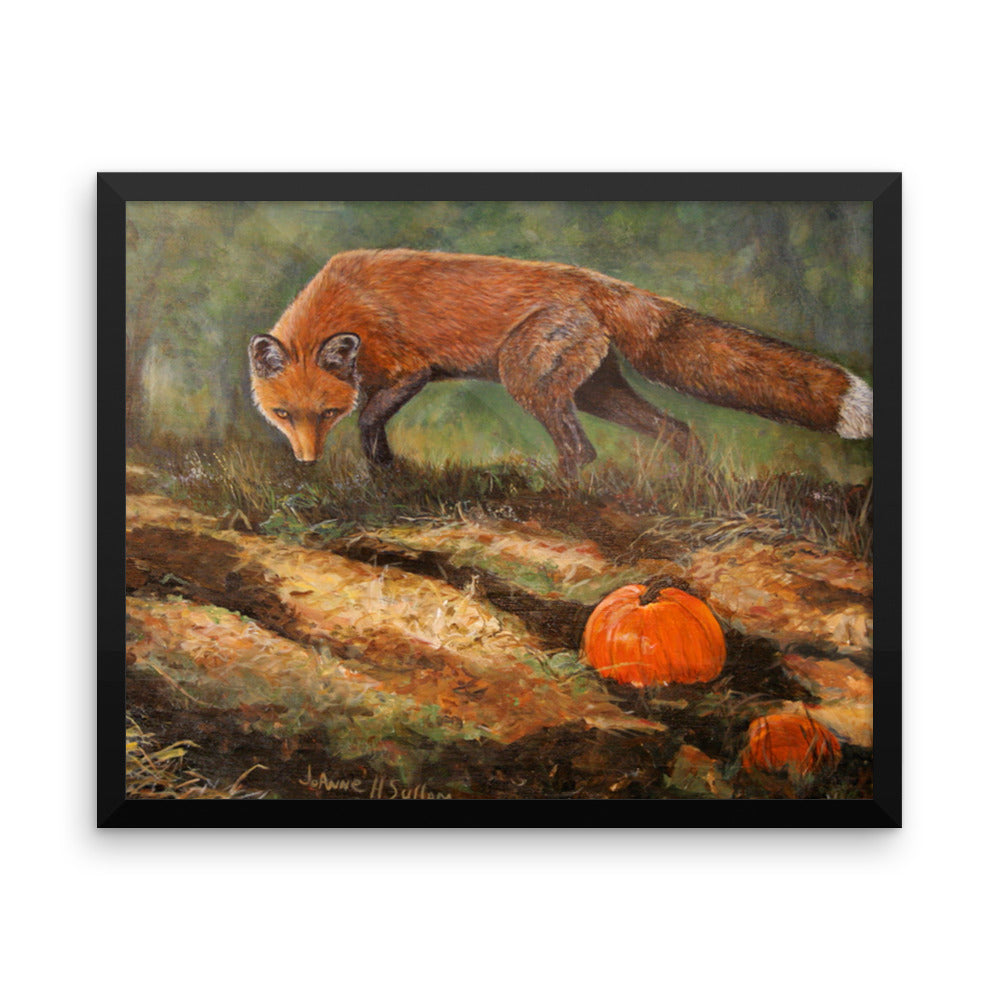 Out colored Red Fox Framed photo paper poster - Daydreams Studio