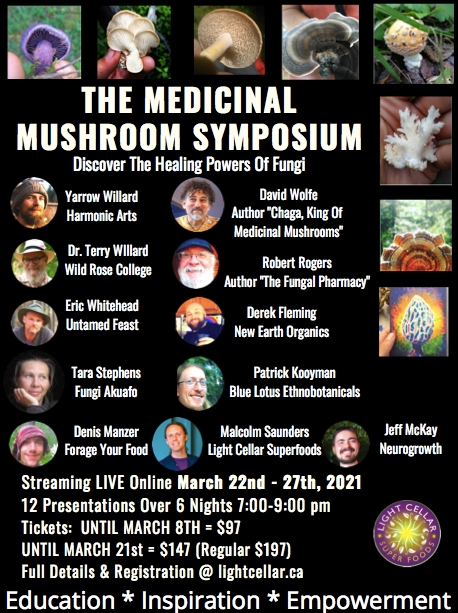 Medicinal Mushroom Symposium: March 22nd - 27th 2021