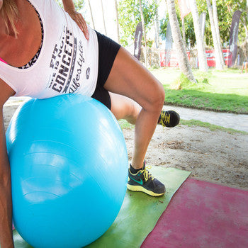 Get in Shape - Static Strength Exercise Stability Ball with Pump