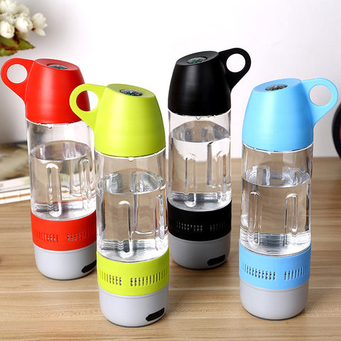 Fresh New Design Water Bottle Mini Bluetooth Speaker Portable Cups Compass Wireless Speaker Outdoor Sound Stereo Music Player - Kai Fit Life