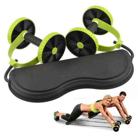 Fitness Ab Double Wheel Roller Pull Rope Waist Slimming & Knee Mat - Get $9 Off Today! - Kai Fit Life, Exercise Equipment