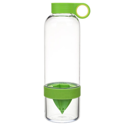 Daily DETOX Fruit Drink - Water Bottle Infuser Fresh Lemon Squeezer.