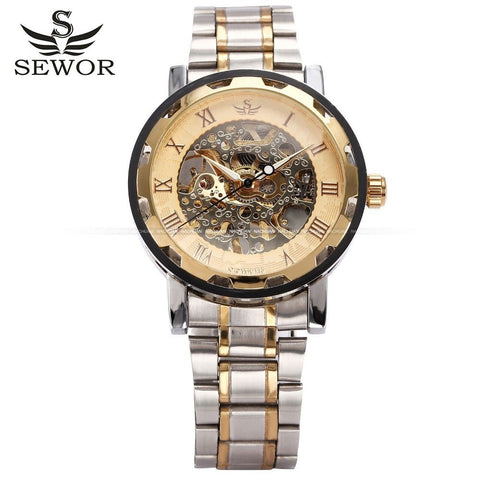 2016 New Fashion Stainless Steel Men's Watch-Sewor Brand - Skeleton Watch Company