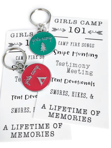Girls Camp Keychain