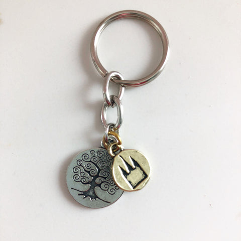 Sacred Grove and Temple Keychain
