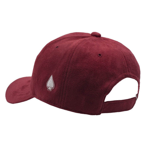 ACE Side Red Suede Dad Hat - Red Suede