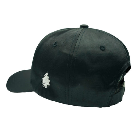 ACE Black Satin Dad Hat - Black Satin